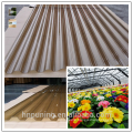 twin wall polycarbonate corrugated sheet
