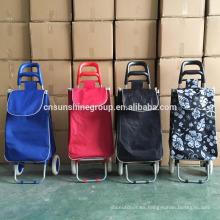 600D Polyester Folding Shopping Trolley Cart
