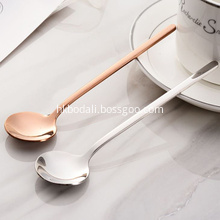 Stainless Steel Korean Long Handle Stirring Spoon