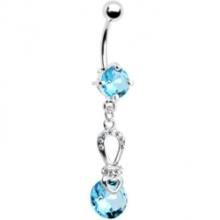 Gem aqua beauté exquise Belly Ring