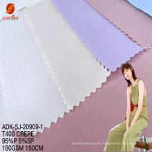 Manufacturer custom Free sample importer knitted dress fabric  jersey polyester moss crepe tulle fabrics for clothing
