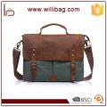 Factories Sale Genuine Leather Handbags Canvas Computer Bags File Messenger Bags