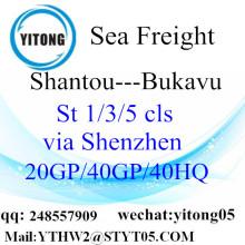 Shenzhen FCL LCL Container Shiping to Bukavu