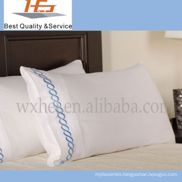 High Quality Hotel 100 Cotton Pillow Case Plastic Packaging