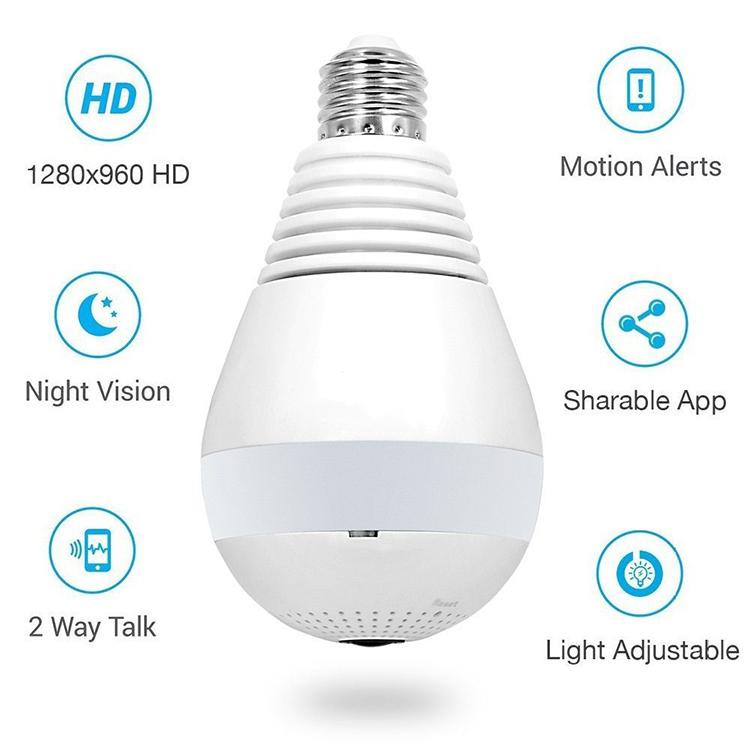 Lamp Bulb Ip Camera