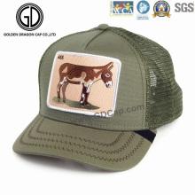 Hochwertiger Cap-Baumwoll-Trucker-Hut mit Tier-Stickerei-Abzeichen