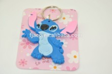 Animal rubber charm rubber keychain machine in rubber keychains;yiwu costume jewelry promotional gifts