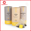 Design your own cardboard cylinder packaging box , luxury packaging paper tea box