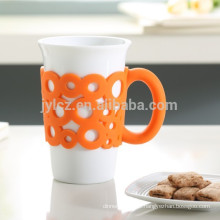 15 oz mug with silicone handle