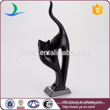 Großhandelskeramische Hauptdekoration moderne schwarze Katze