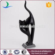 Gato negro moderno de la decoración casera al por mayor