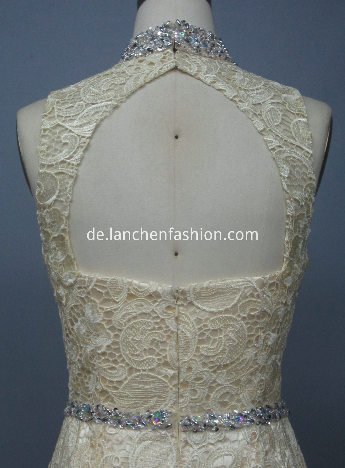 High Neck Lace Dress