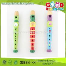 El instrumento de música de alta calidad barato fija los juguetes musicales de madera de la flauta de los niños