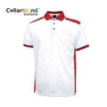 Polo confortable blanc rouge à manches courtes