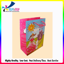 Happy Girl Glossy Paper Cosmetic Shopping Bag