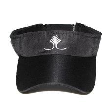 black micro fiber material custom running visor dri fit cap