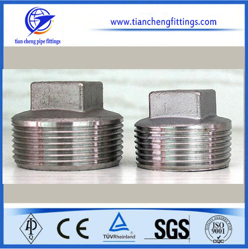 Forging High Pressure Stainless Pipe Fitting Square Plug