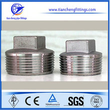 Square Plug Butt Weld Stainless Steel Male Threaded