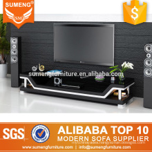 kenya unique style living room stainless steel legs black white tv stand