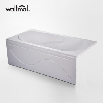 EverClean Apron Bathtub di White