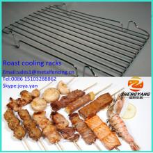 Les casseroles saines utilisées en plein air de gril de qualité alimentaire maille rôtissent des casseroles de refroidissement en acier inoxydable