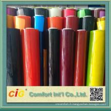 Transparent et feuille de PVC pour le paquet de couleur