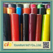 Transparente e folha de PVC para pacote de cor