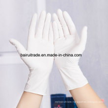 White Disposable Nitrile Rubber Gloves Medical White Oil Resistant Gloves