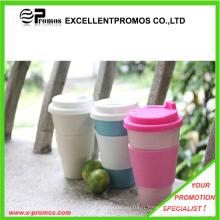 Tasse de bambou promotionnelle biodégradable réutilisable de 16 oz (EP-M9042)