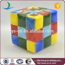 modern Rubik's Cube toothbrush holder
