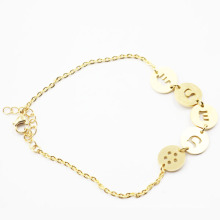 Plated Gold Stainless Steel Bracelet