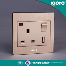 Soquete do interruptor do carregador 13A de USB do padrão britânico BS 1gang