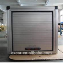 Caja de almacenamiento de aluminio con puerta rooling para carrito de golf