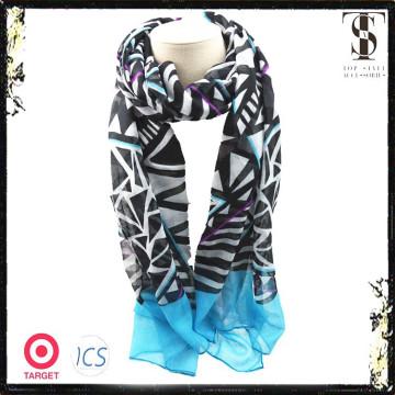 Геометрический полосовой принт модный платок с шарфом