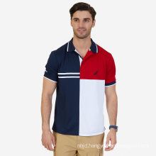Classic Fit Pieced Color Blocked Performance Polo Shirt