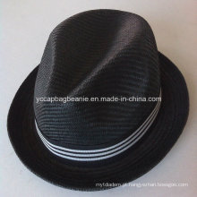 Moda homens 100% papel palha cowboy hat