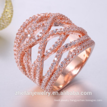 Cubic zirconia platinum plated ring lead free low cadmium bridal wedding jewelry