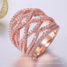 Zircônia cúbica de platina anel de chumbo e cádmio livre de jóias de casamento de noiva