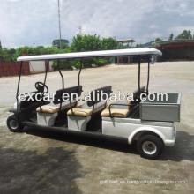 Carro de golf eléctrico barato de 48V 6 personas con la pequeña certificación del CE del rectángulo del cargo