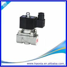 Válvula de solenóide de pressão em aço inoxidável de duas vias de 24 v em aço inoxidável