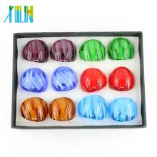 Anneaux en verre de Lampwork les plus chauds faits main pour des femmes avec la taille de mélange et mélangent des couleurs 12pcs / box, MC1006
