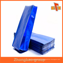 Heat Seal Blue Color Custom Printing Side Gusset Empty Bag With Aluminium For Coffee or Tea