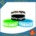 Logotipo personalizado pulsera o pulsera de silicona impreso para el negocio o la actividad regalo promocional