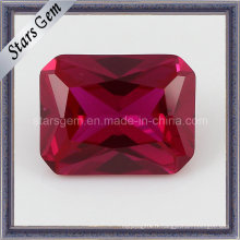 Lav Créé Rectangle Synthétique Corindon Ruby 5 #