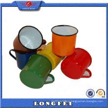 China Supplier Custom Various Color Enamel Mug