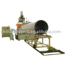 Cadena de producción de tubería de doble pared de hueco hueco de calibre enorme de PVC