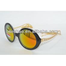 2014 moldura dourada óculos de sol polarizados