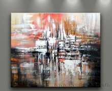Handmade Modern Abstract Canvas Oil Painting (XD1-127)
