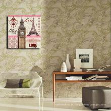 Impressão de alta qualidade da pintura da torre de Paris na lona / decoração da parede