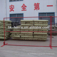 Panneaux soudés provisoires portatifs de barrière de fil de 6'x10 'pour des chantiers de construction